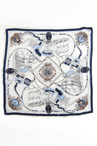 Silk Scarf - Blue Sailor