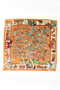 Silk Scarf - Orange India