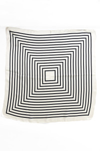 Silk Scarf - Black and White Geometry