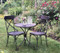 Patio table and chair set - Black