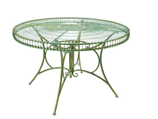 Large metal Victorian style table