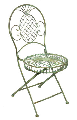 Metal folding chair - Victorian style