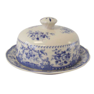 Powell Craft - Blue Rose China Butter Dish