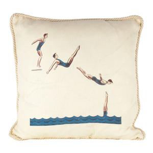 Back Jack Knife Dive Ox Bow Linen Pillow