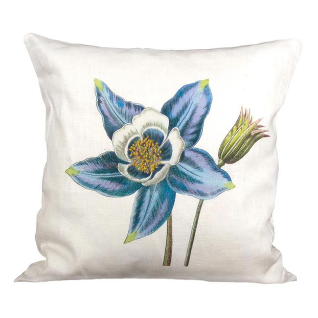 Columbine Ox Bow Linen Pillow
