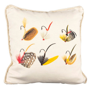 Fishing Flies Ox Bow Pillow