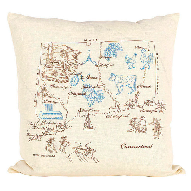 Connecticut Ox Bow Pillow