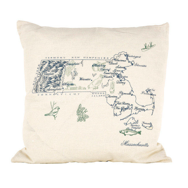 Massachusetts Ox Bow Pillow