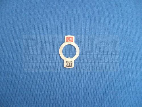 200162 Videojet Switch Face Plate