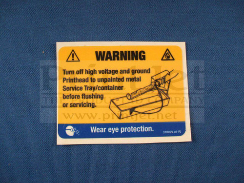 370099-01 Videojet Warning Label
