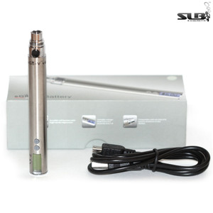 SLB eGo-V V2 USB Pass-Through 650mAh Battery - Stainless Steel