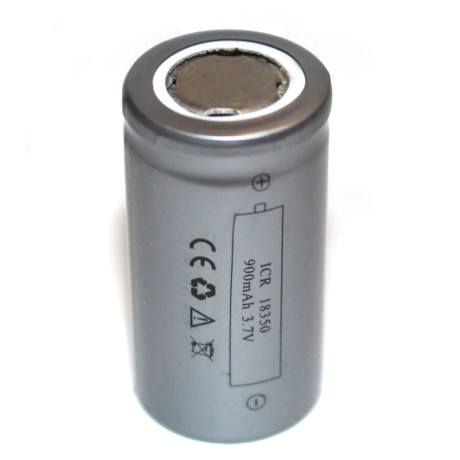 ICR 18350 900mAh Flat Top Li-Ion Rechargeable Battery