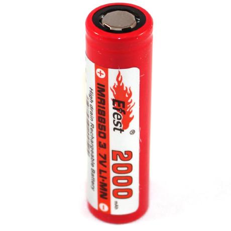 Efest IMR 18650 Flat Top 2000mAh Li-Mn Rechargeable Battery