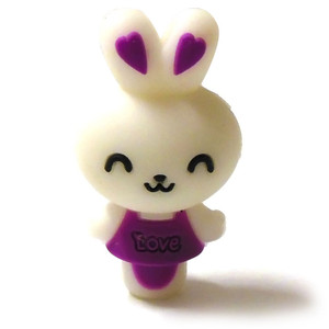Love Bunny Silica Gel 510 Drip Tip - Purple