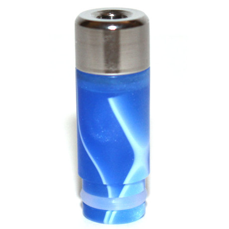 Stainless Flat Top Acrylic 510 Drip Tip - Blue