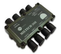 Techaya Ultra Compact Military Ethernet Switch,  8 Port, MILTECH308