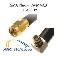 "Arc Pigtail, 10"" ARC100, R/A MMCX/SMA Plug, ARC-CJ1054S01"