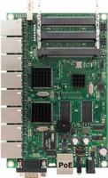MikroTik 680Mhz, 256MB, 9 10/100/1000, 3 MiniPCI, 1 USB, LVL 5 OS, RB/493G