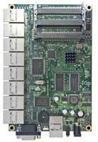 MikroTik 680Mhz CPU, 128MB, 9 10/100, 3 MiniPCI, LVL 5 OS, RB/493AH