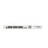 MikroTik 24 Port, Two SFP+ 10G ports, Cloud Router Switch 1U RM enclosure, CRS226-24G-2S+RM