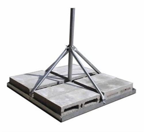 "Rohn, Flat Roof Mount, Single Mast, 2.5', 1.50"" OD, FRM-150, Non-Penetrating"
