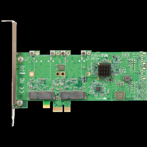 MikroTik Four Slot miniPCIe-PCIe Adapter, RB14e