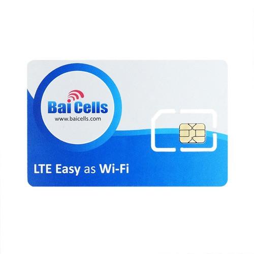 BaiCells Sim Card, 100 Pack, BAICELLS-SIMCARD-100