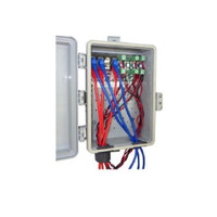 McCown Technology Outdoor Tower/Wall Mount Combination 4 DC and 4 GigE Ethernet Surge Protector, 800-4X4SS-TWR