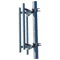 "McCown Technology Triple Pipe Sector Antenna Mount with 3 x 36"" Masts, 800-M-TOW-3P-36"