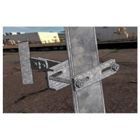 McCown Technology Iron Tower V Block Pipe Standoff Mount, 800-M-TOW-ANGLE-V