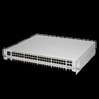 Ubiquiti 48-Port managed PoE switch with (48) Gigabit Ethernet ports including (32) 802.3at PoE+ ports, and (4) SFP ports, USW-48-POE