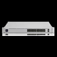 Ubiquiti Networks, UniFi Switch Pro, (24) Gigabit RJ45 ports, (2) 10G SFP+ ports, Layer 3, USW-Pro-24