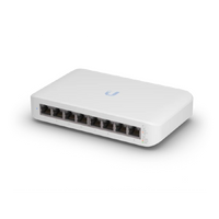 Ubiquiti Networks, UniFi Switch Lite (8) Gigabit RJ45 ports, (4) POE ports, Layer 2, 52W POE power, USW-Lite-8-POE