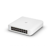 Ubiquiti Networks, UniFi Switch Lite (16) Gigabit RJ45 ports, (8) POE ports, Layer 2, 45W POE power, USW-Lite-16-POE