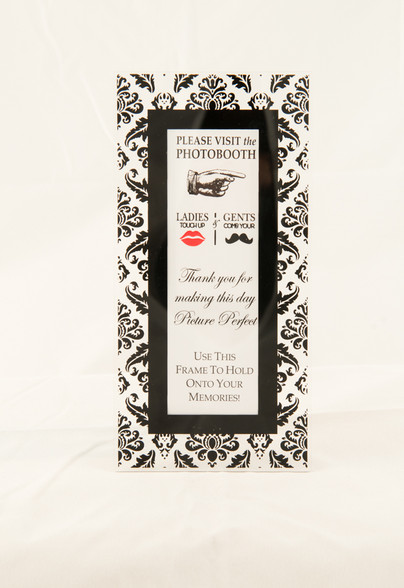 Magnetic Photo Booth Frame With Easel Option Whimsical Black Photo