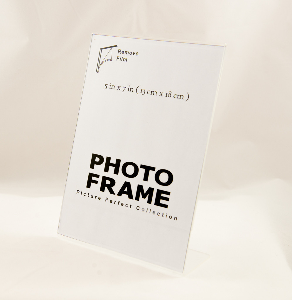 5x7 Photo Frame Clear Acrylic Picture Frame Vertical Sign Holder 5 X