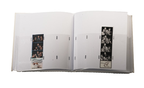 White photo booth album slide in 2x6