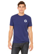 6abc Men's Navy Tri Blend Bella Canvas Short Sleeve T-Shirt