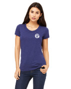 6abc Women's Navy Tri Blend Bella Canvas Short Sleeve T-Shirt
