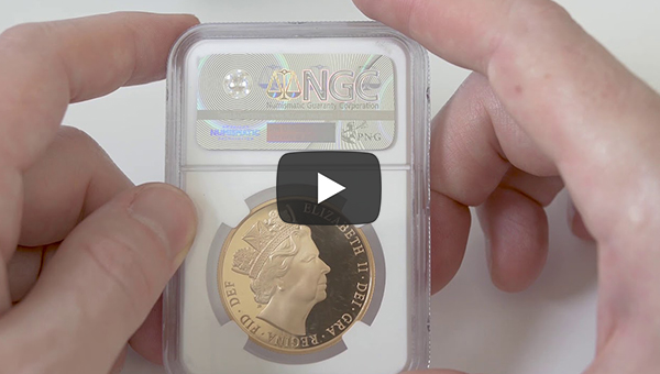 Episode 16: 2016 Gold 5 Pounds NGC PF70 UC James Butler Queen's 90th Birthday Special Design | The Coin Cabinet