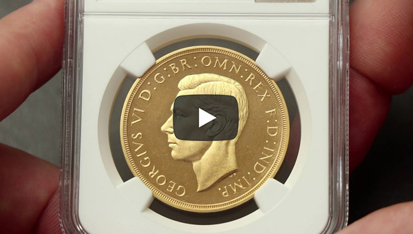 Episode 3: 5 Pounds Proof 1937 Gold Coin Slabbed PR63 CAMEO PCGS and NGC Side by Side