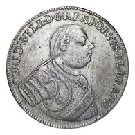 Germany: Prussia Friedrich Wilhelm I 1722 L-IGN 2/3 Taler VF