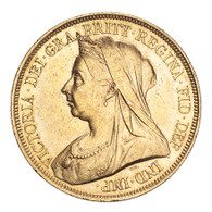 Great Britain Victoria 1893 Gold 5 Pounds EF