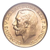 Great Britain George V 1925 Gold Sovereign Choice UNC