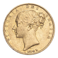 Great Britain Victoria 1841 Gold Sovereign AVF, corrosion