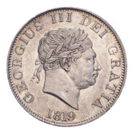 Great Britain George III 1819 Half-Crown EF, lustre