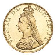 Great Britain Victoria 1887 Gold 5 Pounds Choice UNC