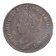 Great Britain Commonwealth of England 1658 Half-Crown F