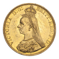 Great Britain Victoria 1887 Gold 5 Pounds AEF