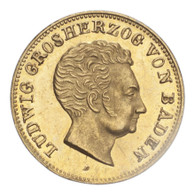 Germany: Baden Ludwig I 1828 Gold 5 Gulden Mint state
